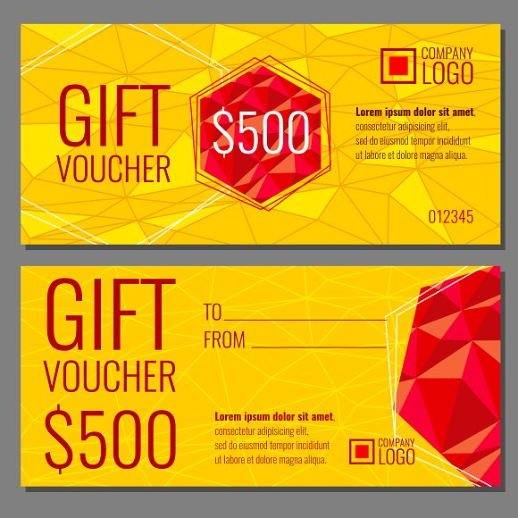 Vector gift voucher template Graphics Creative Market – Template for a Voucher