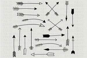 Hand Draw Arrow ClipArt