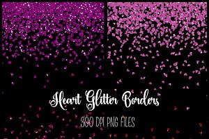 Heart Glitter Borders