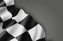 Checkered racing flag background