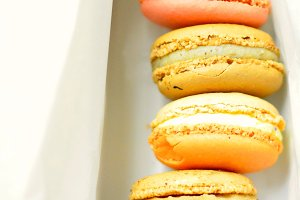 Colorful French Macaroon cookies