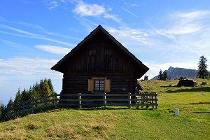 Autumn Landscape and Cottage