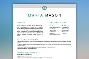 Restaurant Resume Server Resume