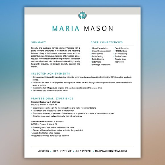 restaurant resume server resume resumes - Restaurant Resume Template