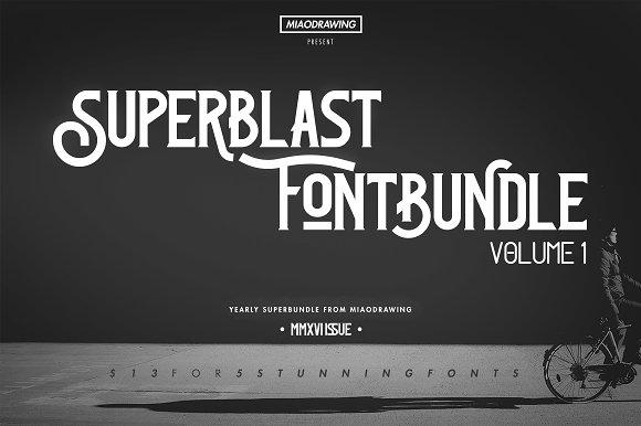 Superblast Fontbundle Vol. 1 (2016)  - Display