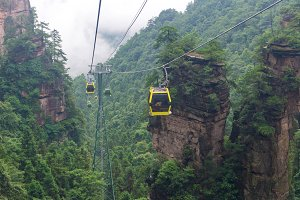 cable car in Tianmen mountain