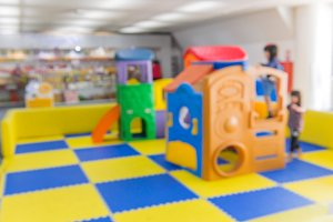 blurred image of children playground