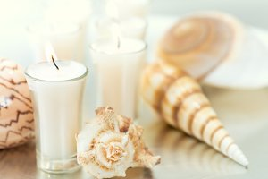Aromatherapy candles and decor