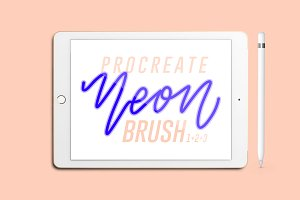 Neon Procreate Brushes