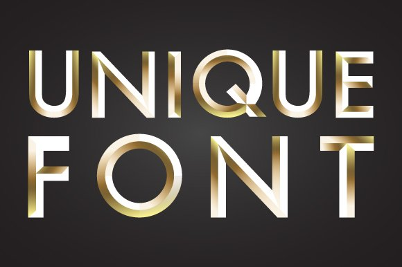 Unique font, letters and numbers