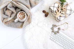 Cozy Christmas Styled Stock Photo