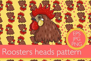2 Rooster pattern set