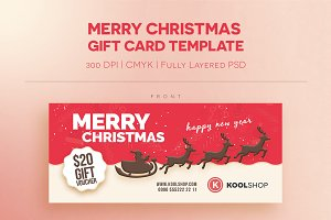 Merry Christmast Gift Card Templates