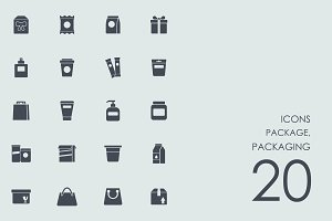 Package, packaging icons