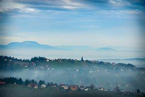 Foggy Landscape / hills