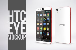 HTC Desire EYE Photorealistic Mockup