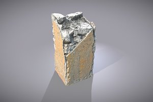 Broken Concrete Pillar
