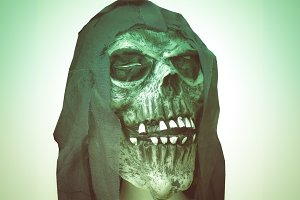 Retro look Halloween skull