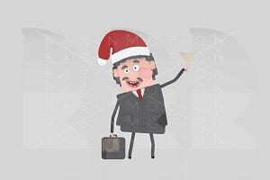 3d illustration. Boss toasting