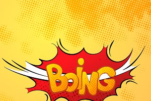 Boing comics sound effect