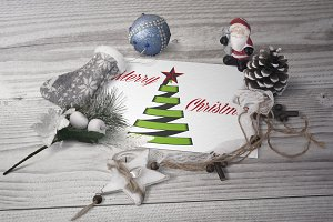 Christmas tree made of ribbons.