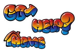 Multicolored glossy label