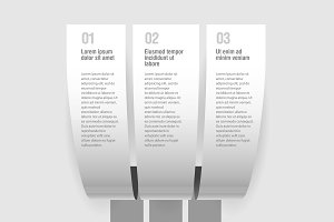 Gray design infographic template