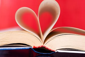 Heart in book from sheets