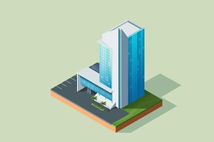 Isometric Illustration Building-01