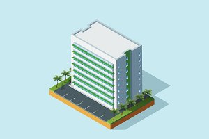 Isometric Illustration Building-02