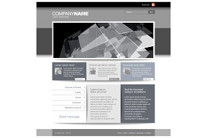 Gray Website Template