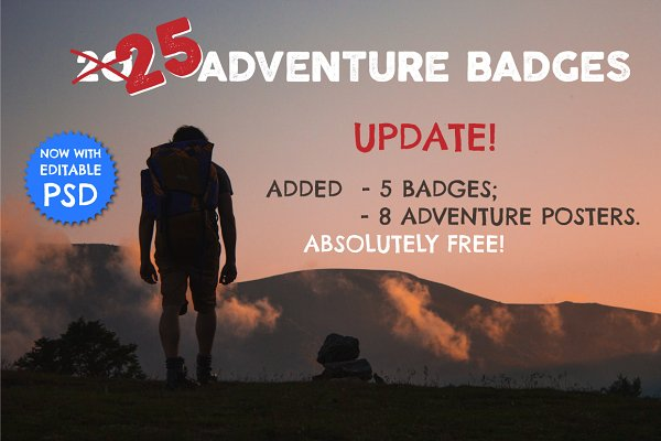 25 Adventure Badges / Travel Logos