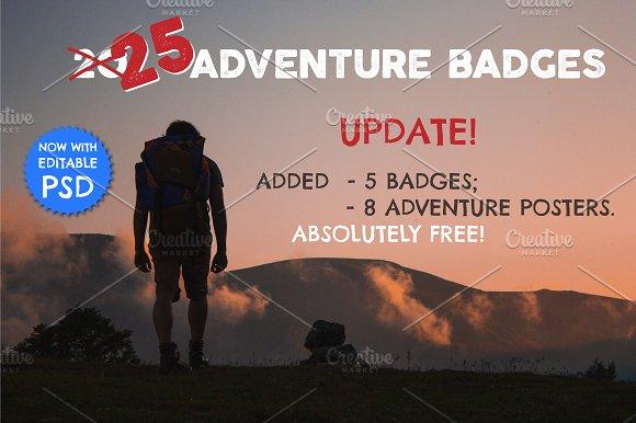 40%OFF 25 Adventure Badges & Logos ⛺ - Logos