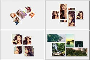 Photo Frame Collage Template-V464
