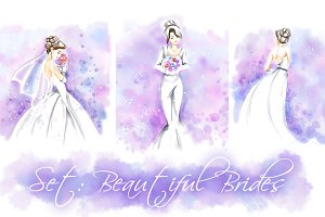 Wedding set: 3 brides