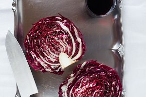 vegetable juice. Fresh red Radicchio