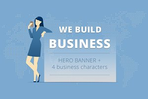 We build business. Hero banner pack