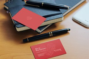 4 Realistic Business Card Mockup