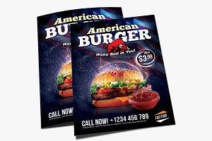 American burger flyer