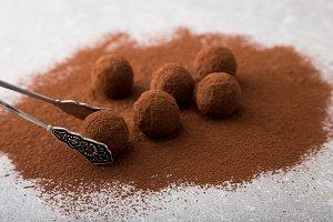 black chocolate truffles