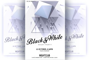 Black&White Party Flyer