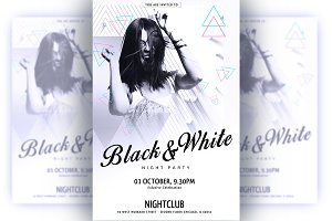 White Flyer Template