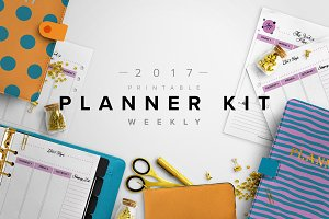 2017 Weekly Planner Kit -3 Sizes