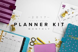2017 Monthly Planner Kit-3 Sizes