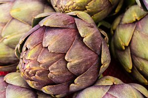 Artichokes at the market
