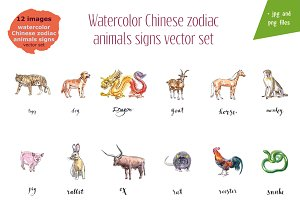 Watercolor horoscope zodiak