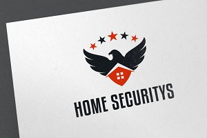 Home Security Logo Template