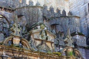 Porto Cathedral lateral facade.