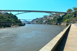 Bridges in Porto, Portugal.
