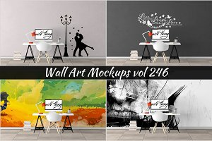 Wall Mockup - Sticker Mockup Vol 246